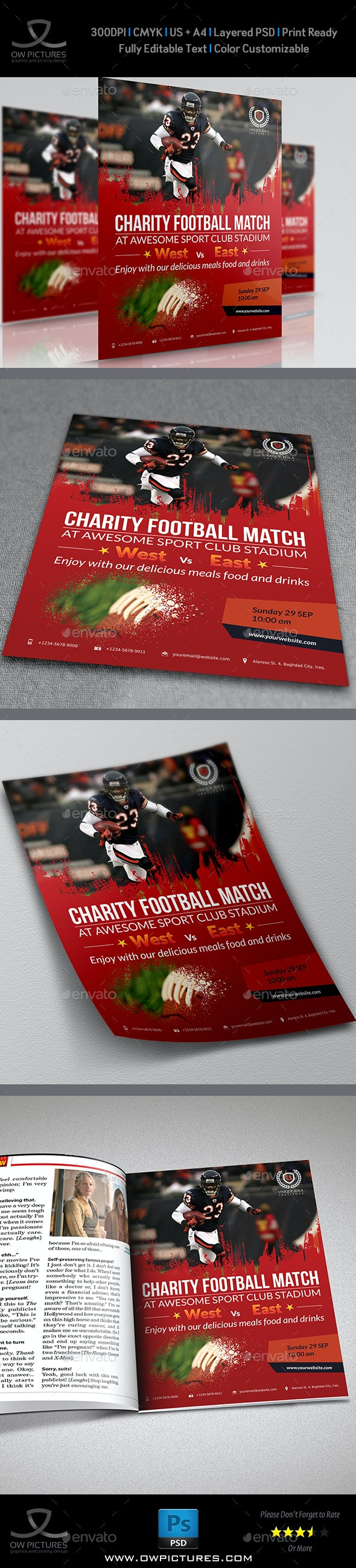 Football Flyer Template - Sports Events