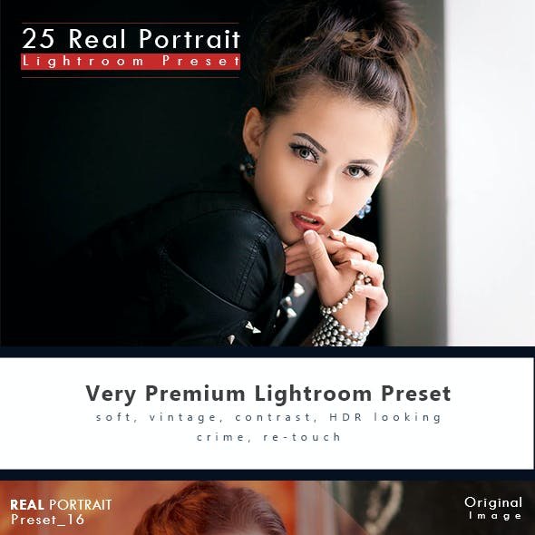 25 Real Portrait Effect Lightroom Preset
