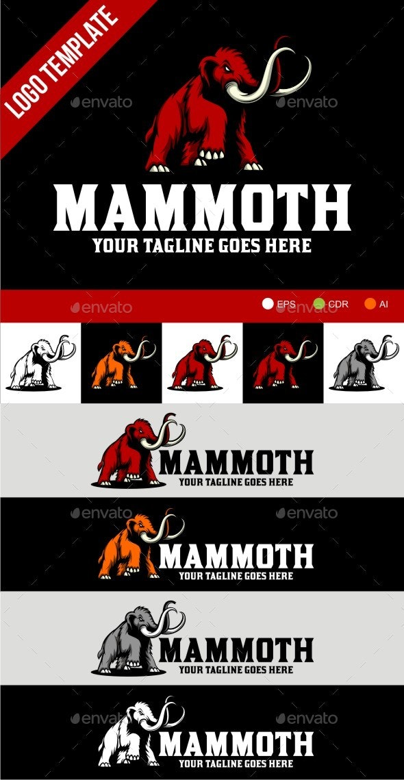 Mammoth - Animals Logo Templates
