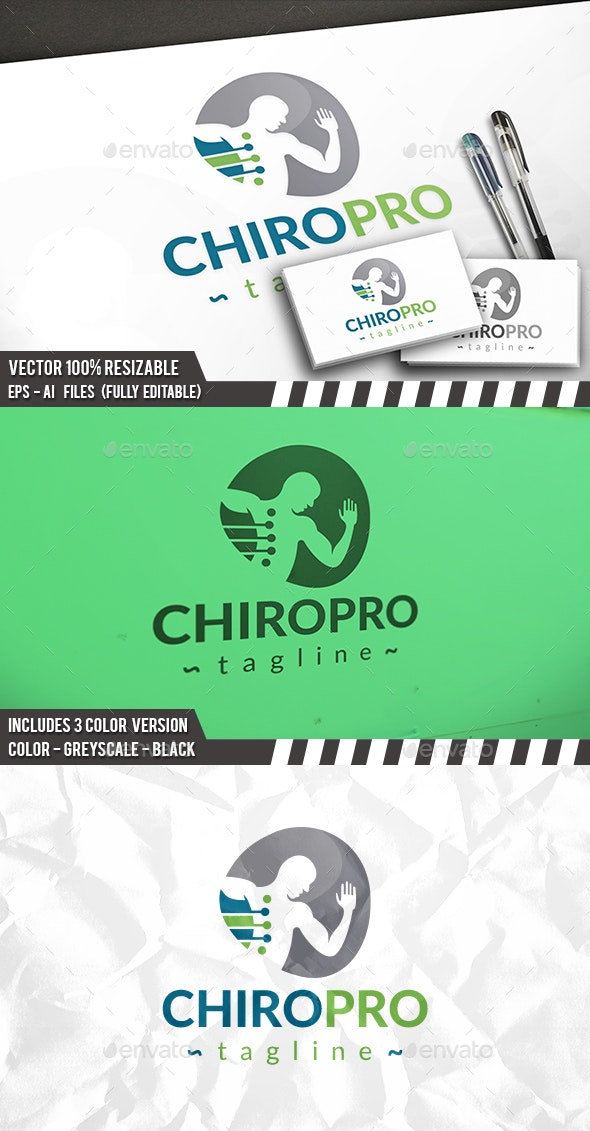 Chiropractic Logo Template - Humans Logo Templates