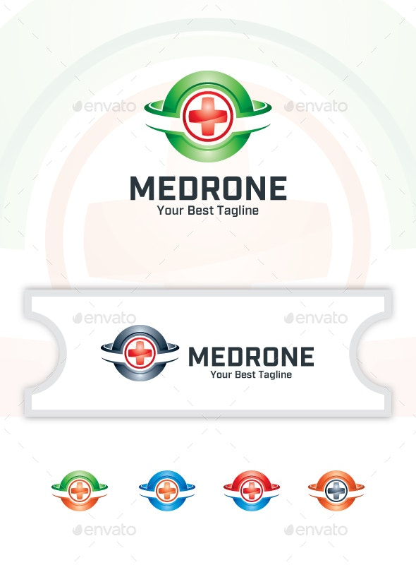 Medical Drone - Logo Template - Vector Abstract
