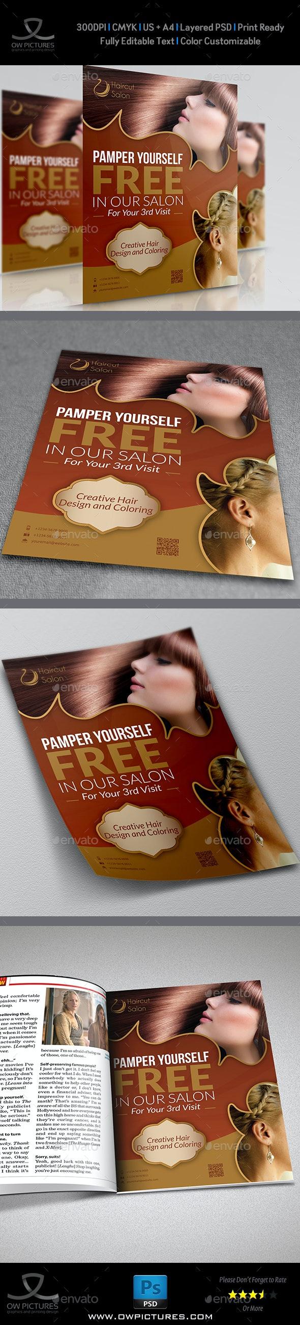Hair Stylist & Salon Flyer - Flyers Print Templates