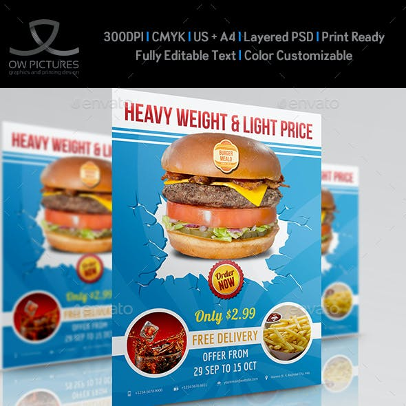 Burger Restaurant Flyer Vol.3