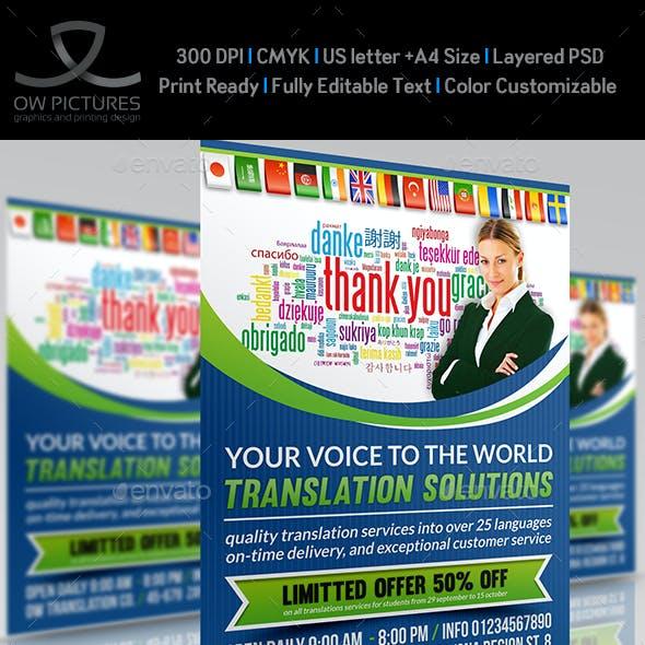 Translation Services Flyer Template