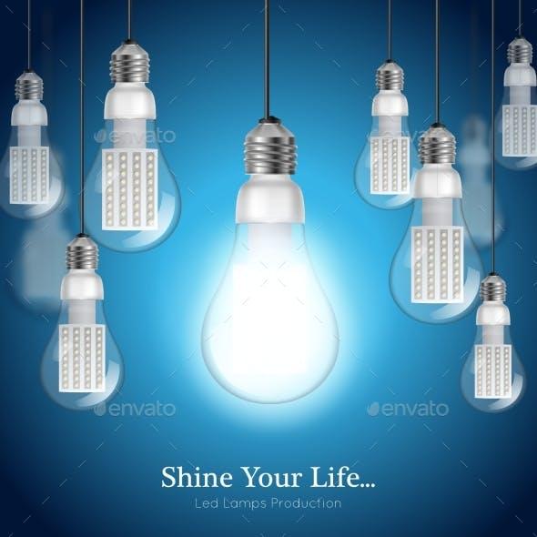 LED Lightbulb Background