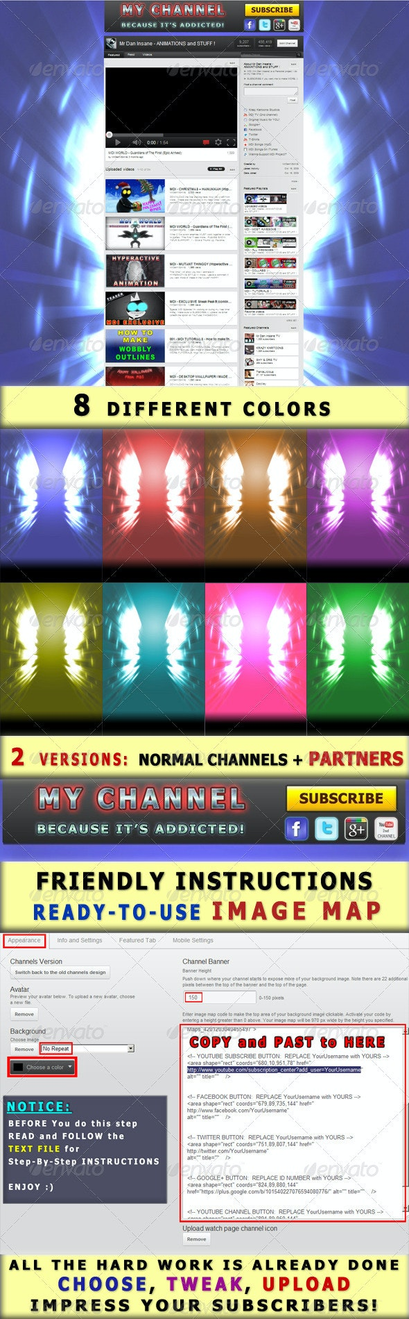 YouTube Channel Dynamic Background - MAGIC SPARKS - YouTube Social Media