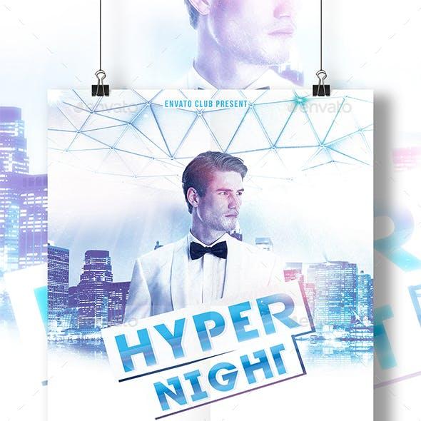 Hyper Night Club Flyer