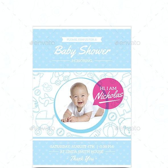 Baby Shower Invitaion Card