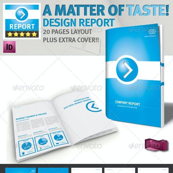 Professional Brochure // Blue Magazine // A4 v1