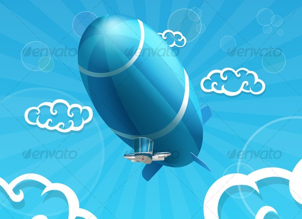 Airship - Objects Vectors