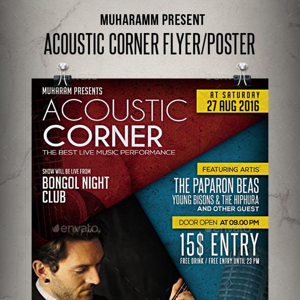 Acoustic Corner Flyer / Poster