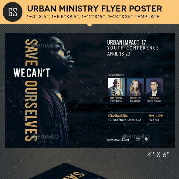 Urban Ministry Flyer Poster Template