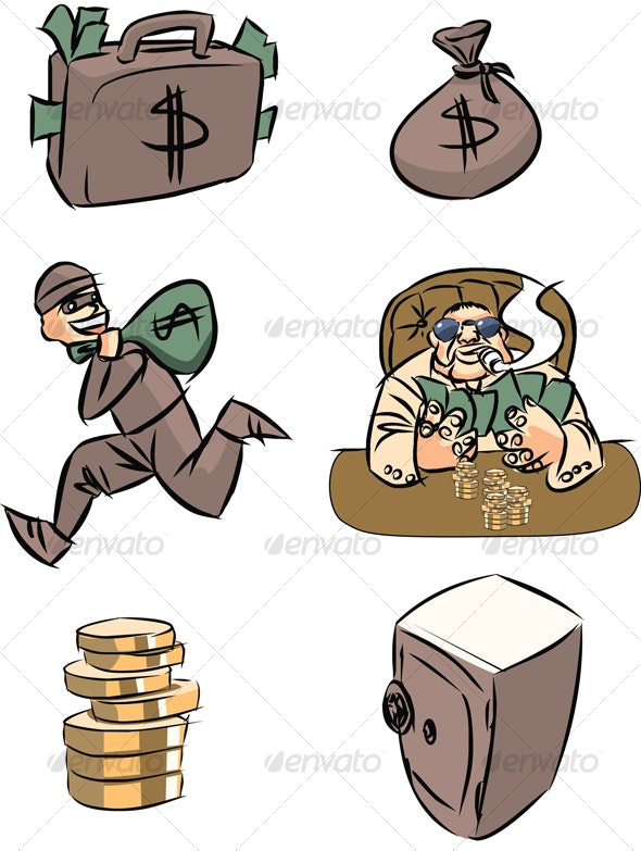 money (set) - Characters Vectors