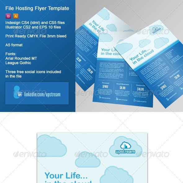 File Hosting/Online Storage Corporate Flyer