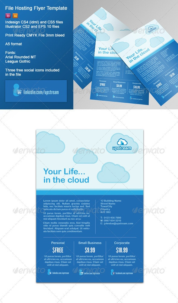 File Hosting/Online Storage Corporate Flyer - Corporate Flyers