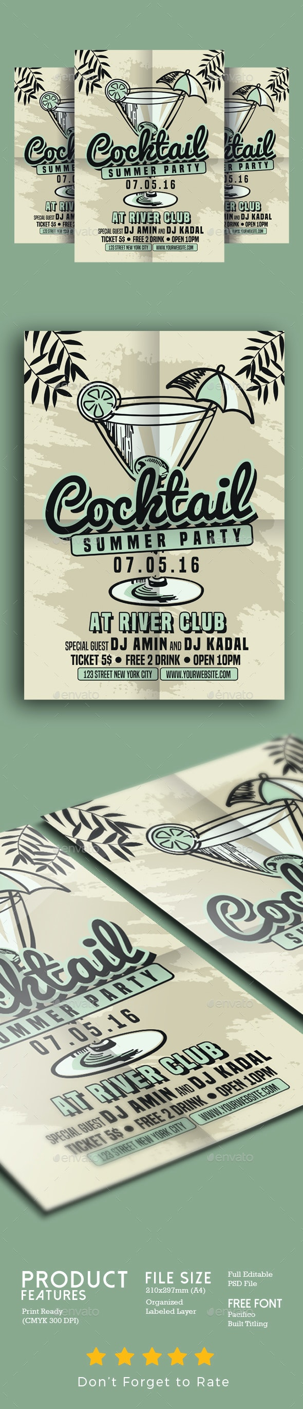 Cocktail Summer Party - Events Flyers