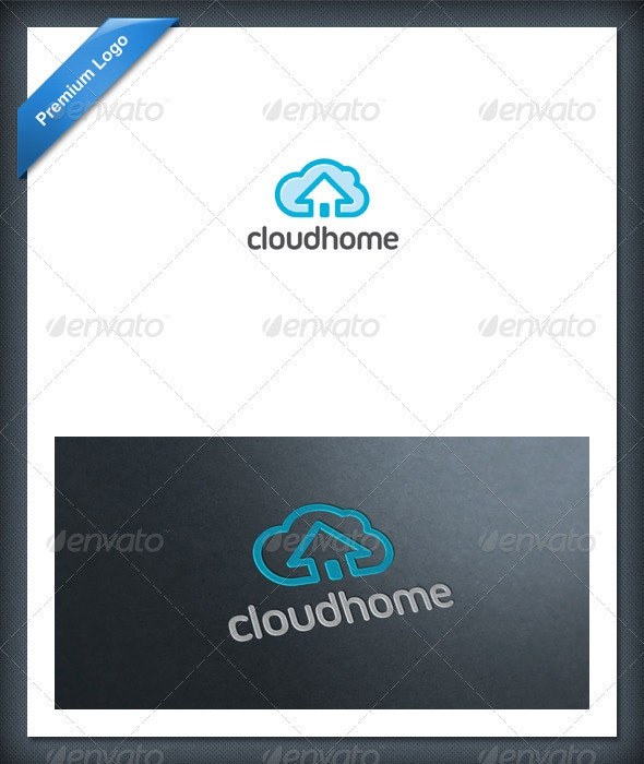 Cloud Home Logo Template - Nature Logo Templates