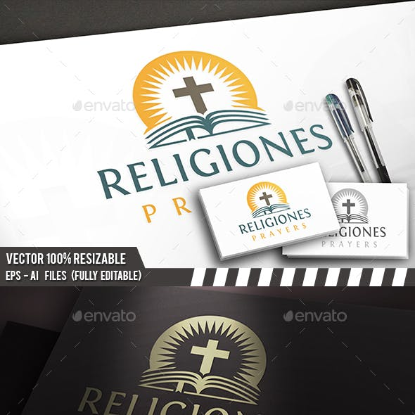 Church Bible Logo Template