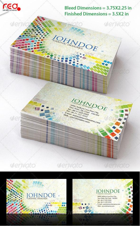 Mosaic Stylish Business Card Set - Creative Business Cards