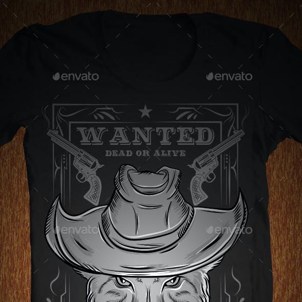 Mad Cat Illustration for T-Shirt
