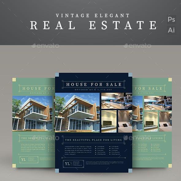 Vintage Real Estate Flyer