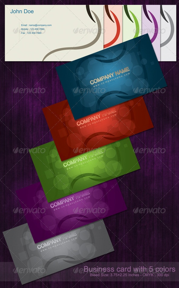Business Card with 5 Colors - Corporate Business Cards