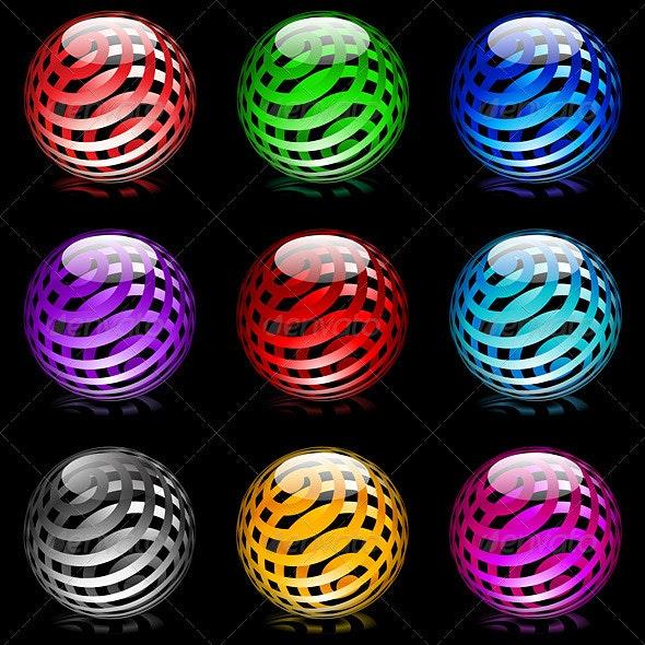 Glossy spheres - Decorative Vectors