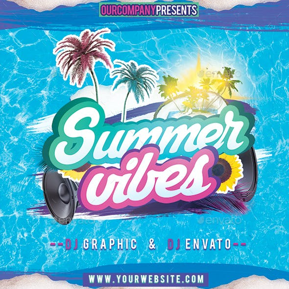 Summer Vibes CD Cover Template
