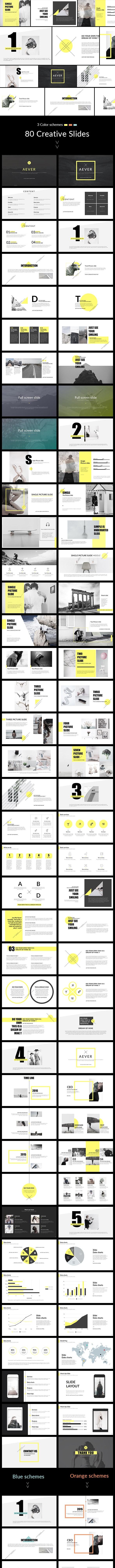 AEVER - Clean & Simple Keynote Template - Creative Keynote Templates