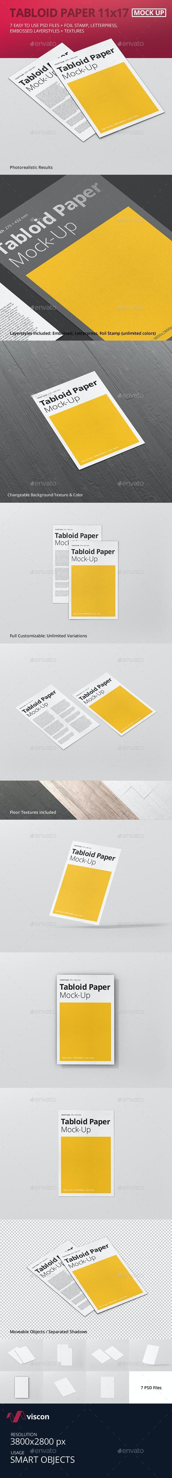 Tabloid Paper Mock-Up - 11x17 - Flyers Print