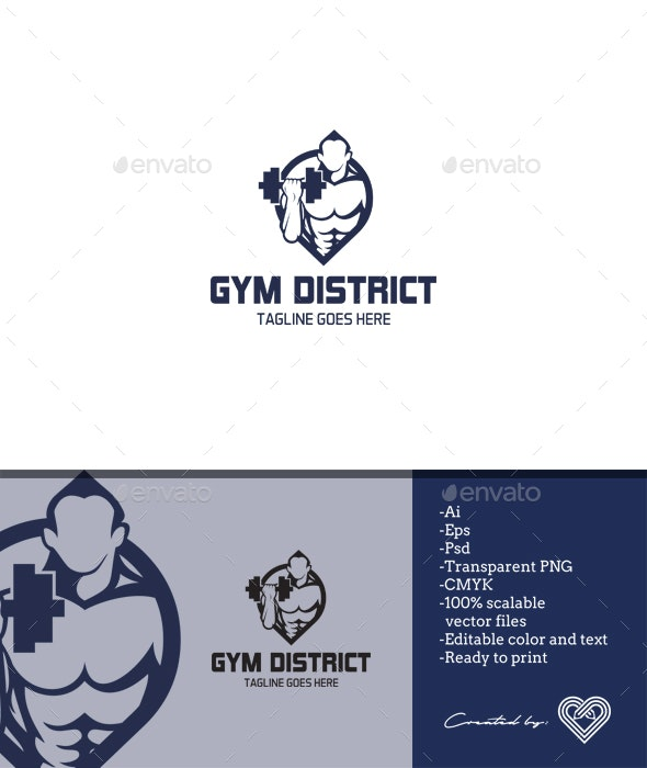 Gym District - Humans Logo Templates