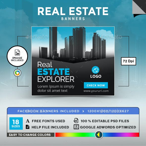 Real Estate Banners - Image Included