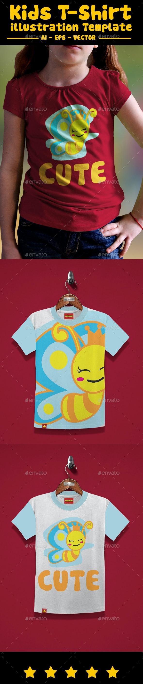 Butterfly Kids T-Shirt Design - T-Shirts