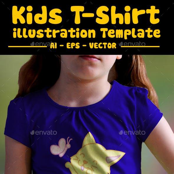 Cat Playing Kids T-Shirt Design