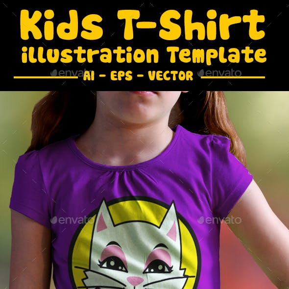 Cute Cat Kids T-Shirt