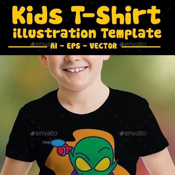 Alien Kids T-Shirt Design