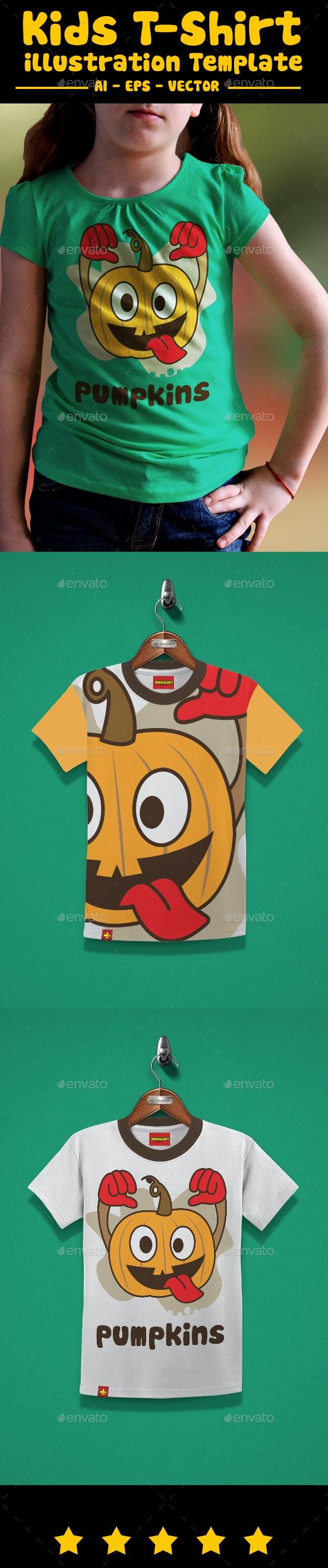 Pumpkins Kids T-Shirt Design - T-Shirts