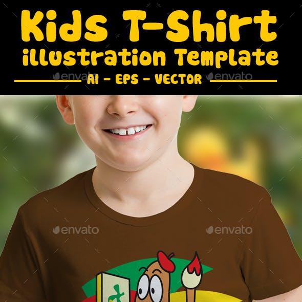 Worm Kids T-Shirt Design