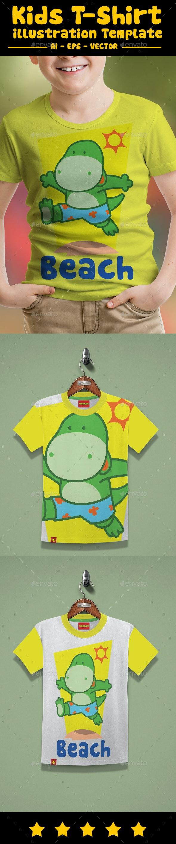 Dino Kids T-Shirt Design - Funny Designs