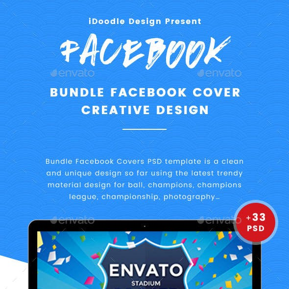 Bundle Facebook Timeline Covers - 33 PSD