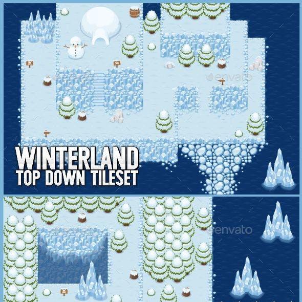 Winterland - Top Down Tileset
