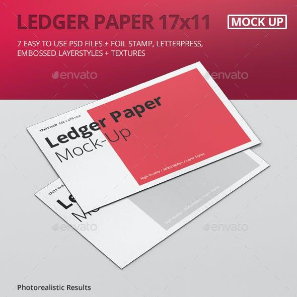 Ledger Paper Mock-Up - 17x11