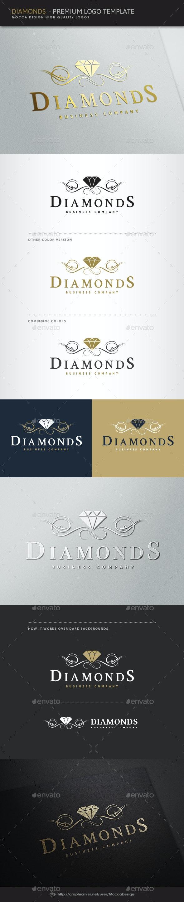 Diamonds Logo - Objects Logo Templates