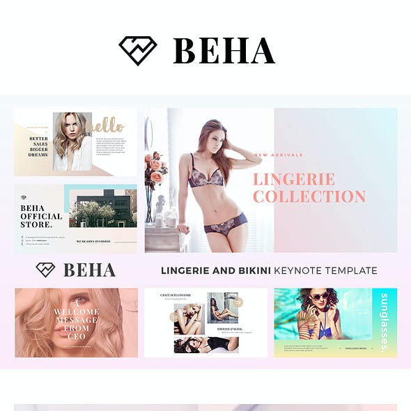 BEHA Lingerie And Bikini Keynote Template