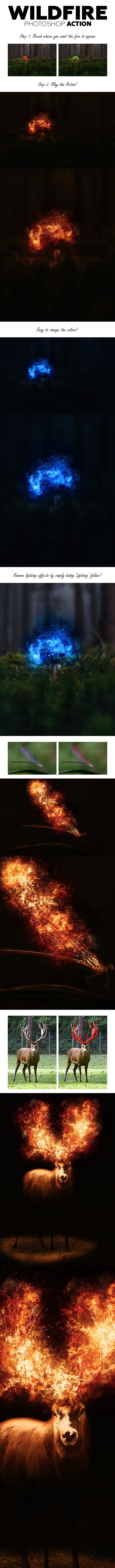 WildFire Photoshop Action - Photo Effects Actions