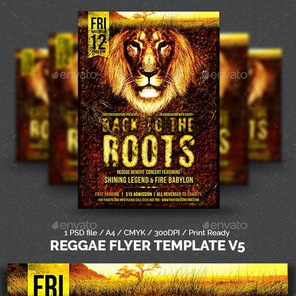Reggae Flyer Template V5
