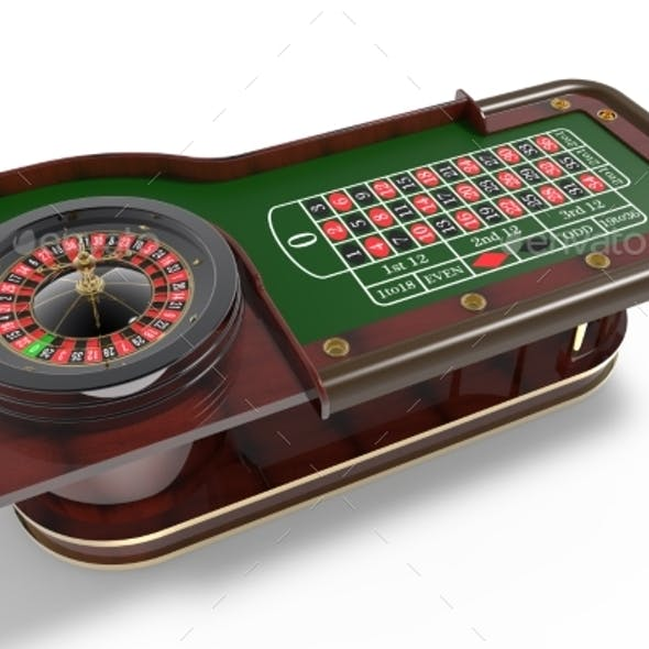 Casino Roulette Wheel 3D Render