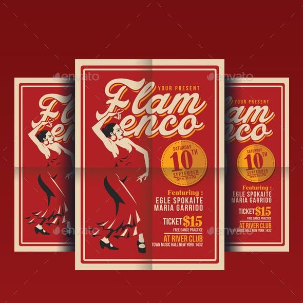 Flamenco Flyer Template