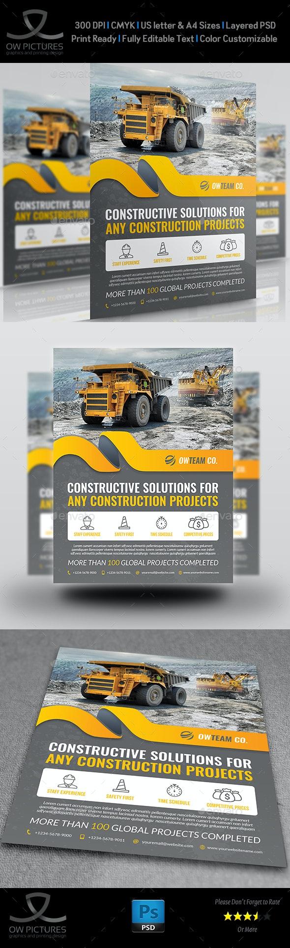Construction Flyer Vol.5 - Flyers Print Templates