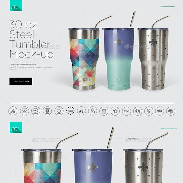 30 oz Stainless Tumbler Mock-up
